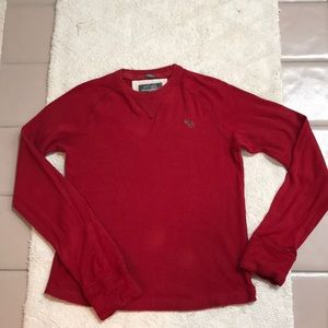 Abercrombie Men's red muscle thermal Top